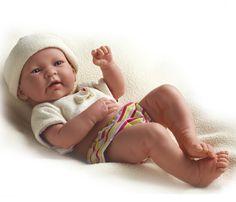 la newborn real life doll | ... Newborn Doll in cream shirt and multi colored stripe diaper. REAL BOY