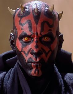 Darth Maul facial tattoos and horn pattern