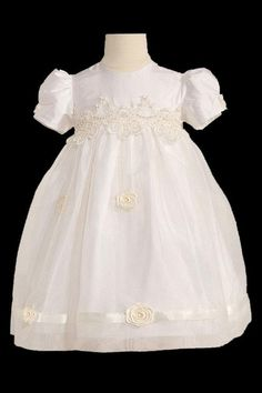 Camillia Silk Christening Dress