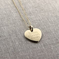 mamaloves - necklace goldplated heart with personal engraving