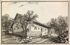 France Prešern's birth home by Ladislav Benesch #Vrba #BirthPlace #FrancePrešeren #Prešeren #SloveniaPoet #SloveneLiterature #Slovenia #SlovenianPoems #SlovenianPoet #EuropeanPoet