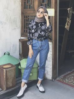 Modest Fashion Hijab, Modern Hijab Fashion, Street Hijab Fashion, Casual Hijab Outfit, Hijab Fashion Inspiration, Ootd Hijab, Hijab Chic, Muslim Fashion, Fashion Outfits