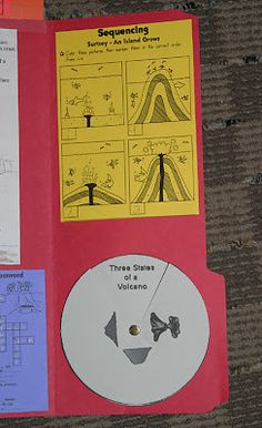Volcanoes ~ Lapbook - 1+1+1=1