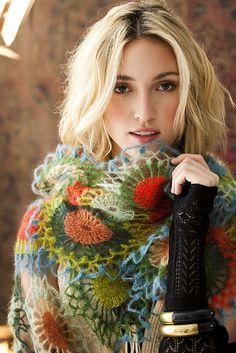 Ravelry: #42 Motif Wrap pattern by Kathy Merrick from Vogue crochet magazine in Kidsilk haze