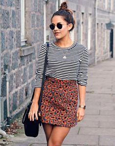 Moda Fashion, Petite Fashion, Womens Fashion, Fashion 2017, Street Fashion, Look Street Style, Street Style Trends, Street Styles, Skirt Outfits