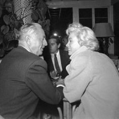 William Powell and Marilyn Monroe * I felt very flattered that William Powell chose me for his dance partner at a Conservatory where he was teaching.. LC