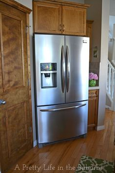 Love this fridge! Great storage ideas, smudge proof stainless steel, water & ice dispenser... Frigidaire Gallery 27.8 Cu. Ft. French Door Refrigerator