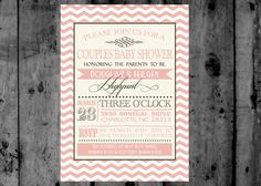 Vintage Pink and Grey Chevron Couples Baby by MakinMemoriesOnPaper, $10.00