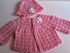 Crochet Baby Set ~ Find Out New Ideas Over Charming 49 Pics Crochet Baby Set with Regard to Exclusive button Me Up Baby Set Crochet Patterns Make A Matching Set On Crochet Baby Set Crochet Baby Sweater Pattern, Crochet Baby Sweaters, Crochet Baby Cardigan, Baby Girl Crochet, Crochet Baby Clothes, Newborn Crochet, Baby Knitting, Cardigan Pattern, Baby Girl Cardigans