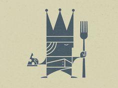 Designspiration — Dribbble - King's Pizza by Scott Hill