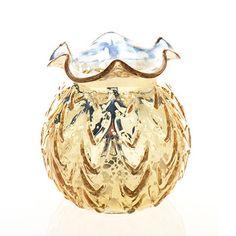 "Mercury Glass Carraway Vase in Gold 5"" Diameter x 5.25"" Tall"