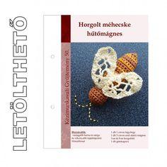 Letölthető leírás 50. Horgolt méhecske hűtőmágnes