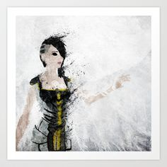 Borderlands - Angel Art Print by Melissa Smith - $17.00