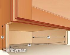 How to Build Under-Cabinet Drawers & Increase Kitchen Storage  Read more: http://www.familyhandyman.com/kitchen/storage/how-to-build-under-cabinet-drawers-increase-kitchen-storage/view-all#ixzz3MHj3IcH8