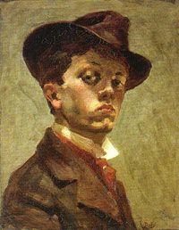 Raoul DUFY (El Havre, 1877 - Forcalquier, 1953) Fauvista. (Autorretrato, 1898)