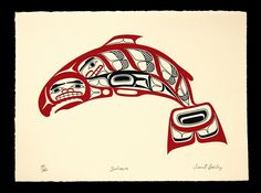 Salmon Northwest Coast Native American Print