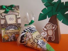 Jungle Party, Safari Party, Safari Theme Birthday, Goodie Bags, Gift Wrapping, Baby Shower, Fiat, Summer, Ideas