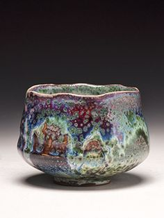 Dick Lehman Pottery, a gallery of wood fired, saggar fired, and side fired ceramics and clay in Goshen, Indiana. Mr. Lehman says this is one of the ten best Chawan of his career.