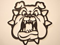 Bulldog With Spiked Collar Cnc Plasma Metal Wall Sculpture Metal Wall Sculpture, Metal Tree Wall Art, Wall Sculptures, Metal Art, Cnc Plasma, Plasma Cutting, Bulldog Cartoon, Plasma Cutter Art, Metal Projects