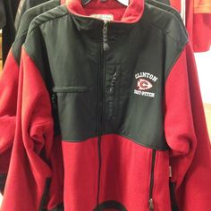 Fast Pitch Fleece Jackets with embroidery- 1 Adult Medium now $39.85 and 1 Adult 3X for $42.99.