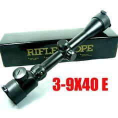 3-9x40EG Red Illuminated Mil-Dot Optical Hunting Rifle Scope with Sun Visor #Affiliate