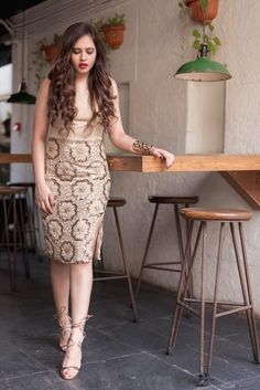 |Aayushi Bangur| Dress| Marquee by VEROMODA| Shoes| Missguided| Cuff| H&M| On my lips| MAC| Ririwoo| Location| Khar Social| Fashion| Blogger|India| Mumbai| Nude| Neutrals| Styledrive|