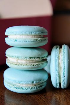French Macarons. I hope to perfect this hidden technique one day!