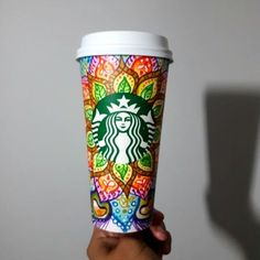 26 Top Decorated Starbucks Cups Images Starbucks Cup Art