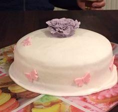 Fondant taart bloem
