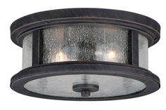 The Vaxcel Cumberland Outdoor Flush Mount Light is featured in a mission-style design crafted of steel in a rust iron finish. A clear seeded glass shade gives this outdoor flush mount light a chic look. Two bulbs emit a warm and welcoming glow. Outdoor Ceiling Lights, Outdoor Wall Lantern, Porch Lighting, Outdoor Walls, Outdoor Lighting, Hall Lighting, Troy Lighting, Lighting Ideas, Wall Lights