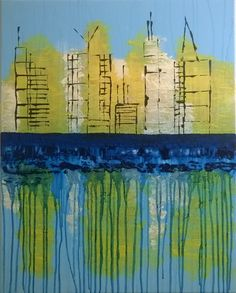 Daybreak Reflections - 24 x 30 Acrylic Painting on Canvas by Denise Pino