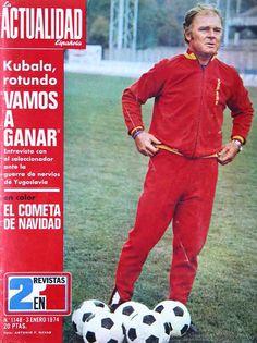 1974-01-03 Kubala rotulando vamos a ganar.La esencia de la fotografía es precisamente esa obstinación del referente en estar siempre ahí.