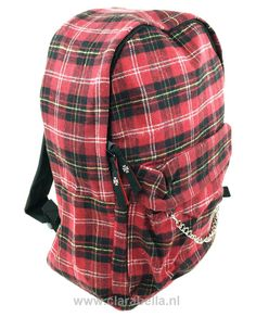 Black-Red Check Rucksack  Price: €19.95  http://www.clarabella.nl/accessories/bags/rucksack/check/black-red-check-rucksack/   15% discount on EVERYTHING in our store. Sign up here to receive your personal discount code:http://eepurl.com/boSy7H