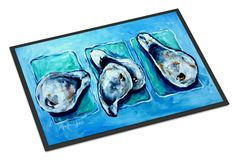 Oysters Oyster + Oyster = Oysters Indoor or Outdoor Mat 18x27 Doormat