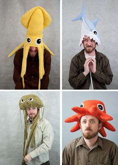 Why not wear a sea creature as a hat?