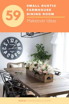 59+ Small Rustic Farmhouse Dining Room Makeover Ideas #farmhouse #farmhousediningroom Dining Table In Kitchen, Dining Room, White Curtains, Old Doors, Bay Window, Rustic Farmhouse, Rustic Decor, Ideas, Home Decor