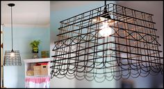 wire basket light