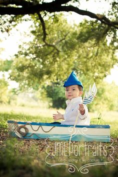 Toddler Boy Photography Props Sailor Hat Newspaper Hat Vintage Inspired BlueFabric Nautical Hat Boys Props Pirate Hat Photo Prop
