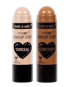 wet n wild MegaGlo Makeup Stick Conceal and Contour. In one swipe of a stick you can get catwalk-ready cheekbones naturally flushed cheeks or an insanely glowy complexion. Wild Deal save more up to off! Makeup Guide, Makeup Tools, Makeup Ideas, Makeup Tricks, Makeup Jars, Candy Makeup, Makeup List, Elf Makeup, Makeup Tutorials