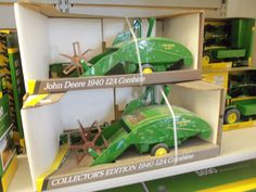 $43.00 John Deere  1/16th 12A  toy pull type combine at Tri Green Tractor in Flora