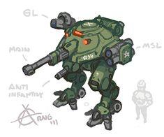 military mech - character design