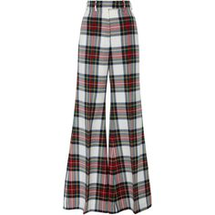 Racil Tartan Lincoln Flared Trouser (6.723.070 IDR) ❤ liked on Polyvore featuring pants, racil, plaid, flared trousers, high waisted flared trousers, plaid pants, high rise flare pants and high rise pants