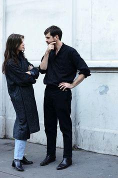 Street Style: Marine Vacth | Long Coat + Jeans In Paris | Styler.
