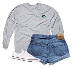 """"""""""" by morgantaylor37 ❤ liked on Polyvore featuring Abercrombie & Fitch and Converse"""
