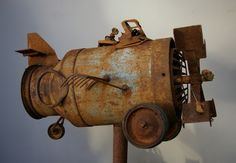 Arte Robot, Robot Art, Robots, Metal Yard Art, Scrap Metal Art, Found Object Art, Found Art, Arte Steampunk, Metal Design