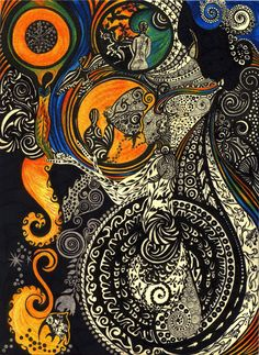 Psychedelic drawing, by [?]
