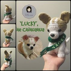 Crochet dog with free pattern