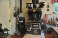 The stove in the Edwardian kitchen is still used to bake cookies for special events.