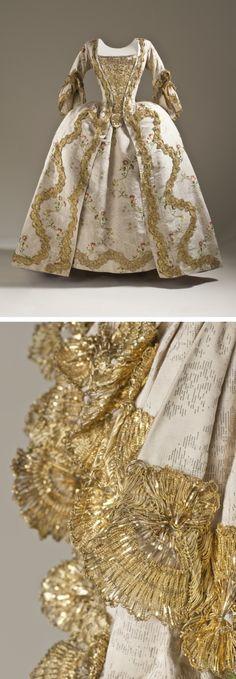 Robe à la Française and Petticoat, France or England, circa 1760-1765