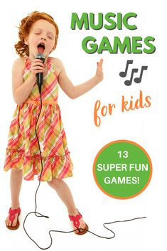 This is such a wide variety of fun music games that are fun for kids of all ages! Perfect for keeping kids busy, family or classroom fun, or to foster a love of music and art. Your kids will have a ton of fun with these games! Music Activities For Kids, Preschool Music, Fun Games For Kids, Games For Toddlers, Kids Songs, Dancing Games For Kids, Kindergarten Music, Kid Games, Summer Activities